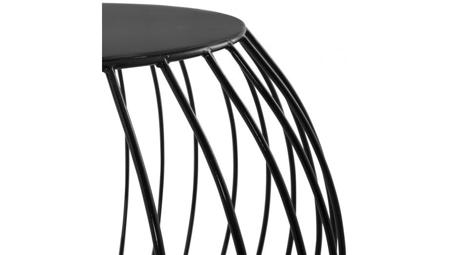 Boul - Table basse métal peint noir