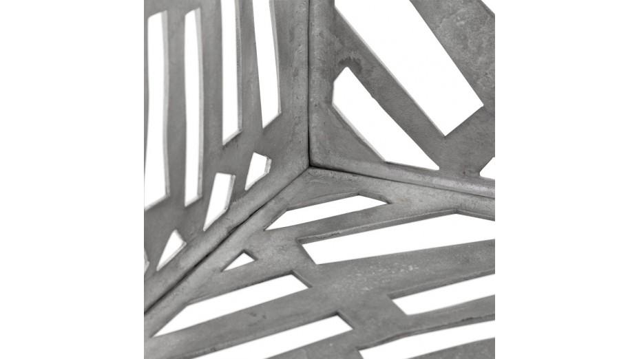 Lory - Bout de canapé carré aluminium poli
