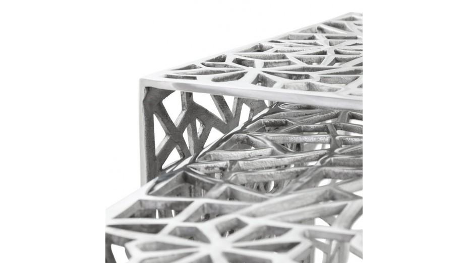 Poli - Tables gigognes aluminium poli