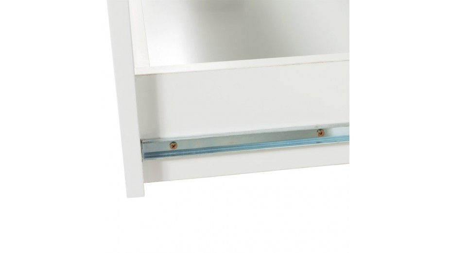 Madrid - Buffet blanc laqué 3 tiroirs / 1 Porte