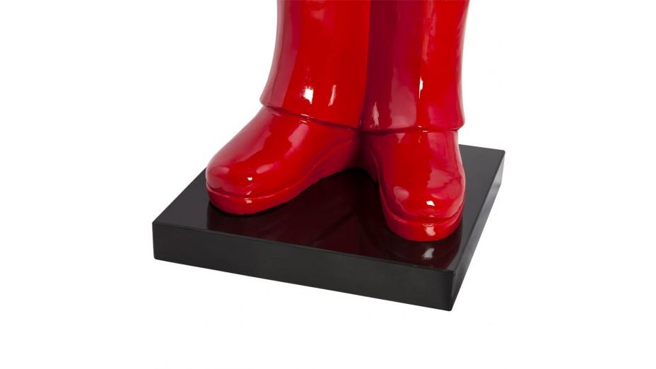 Men - Statue Monsieur résine rouge