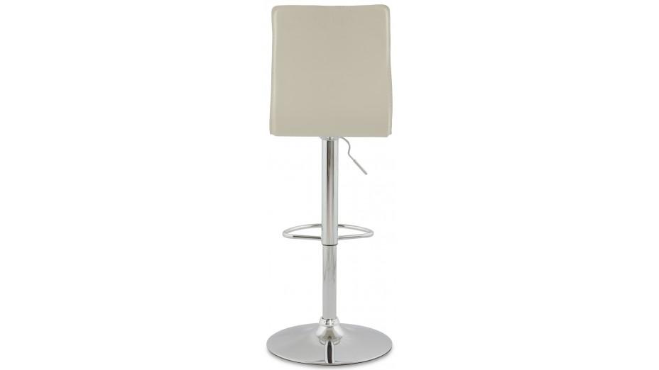 stand tabouret de bar r glable en similicuir creme. Black Bedroom Furniture Sets. Home Design Ideas