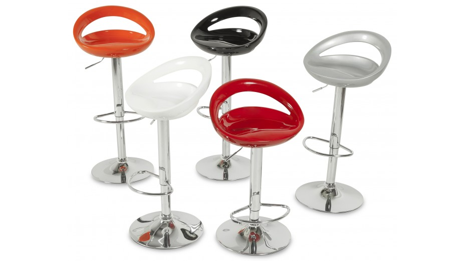 soft tabouret de bar design coque orange. Black Bedroom Furniture Sets. Home Design Ideas