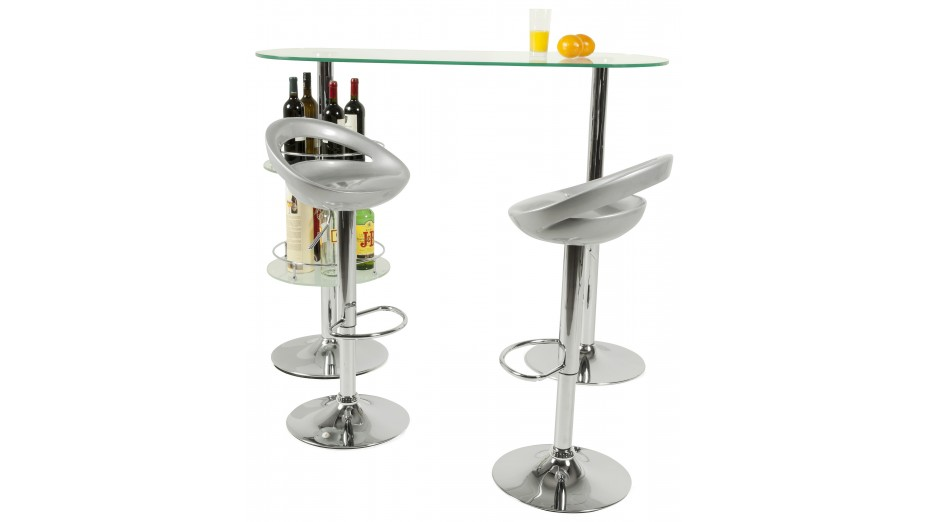 soft tabouret de bar design coque argent. Black Bedroom Furniture Sets. Home Design Ideas