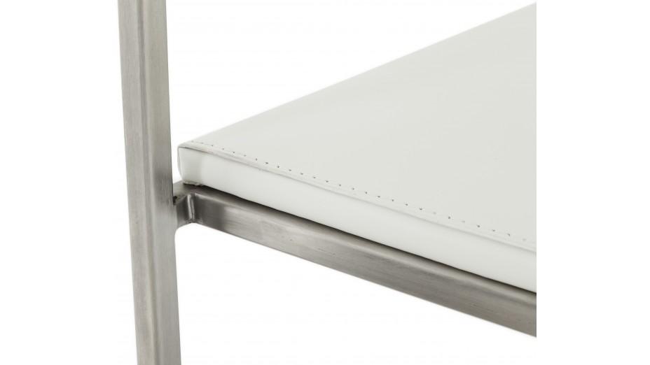 Mona - Tabouret de bar design assise blanche