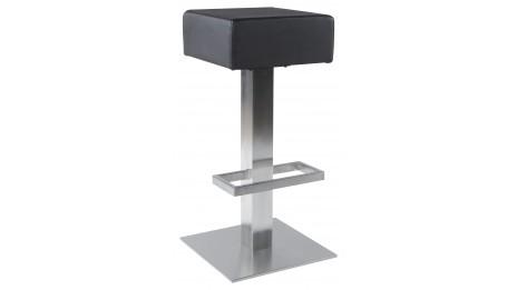 maten tabouret de bar r glable en similicuir noir. Black Bedroom Furniture Sets. Home Design Ideas