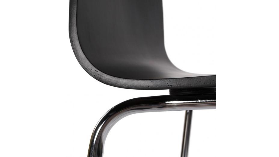 Mars - Tabouret de bar assies bois noir
