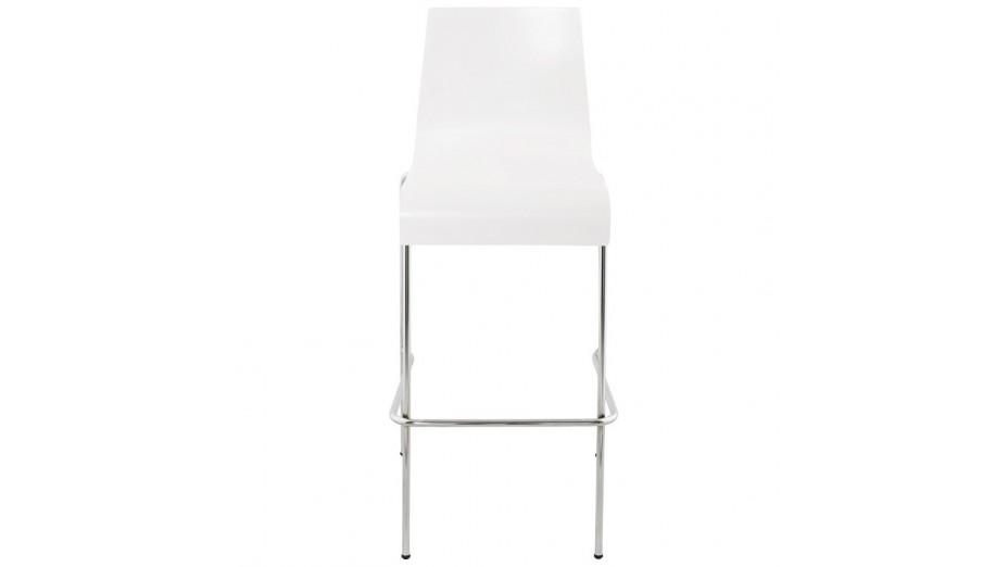 Mars - Tabouret de bar assise bois blanc