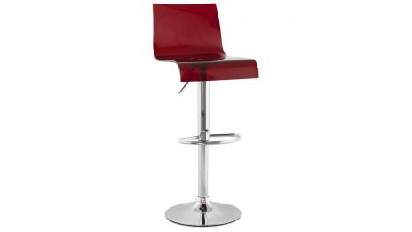 Ergo tabouret ergonomique rouge avec syst me de balancement - Tabouret de bar bordeaux ...