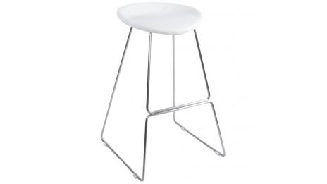 mars mini tabouret de bar mi hauteur assise bois blanc. Black Bedroom Furniture Sets. Home Design Ideas