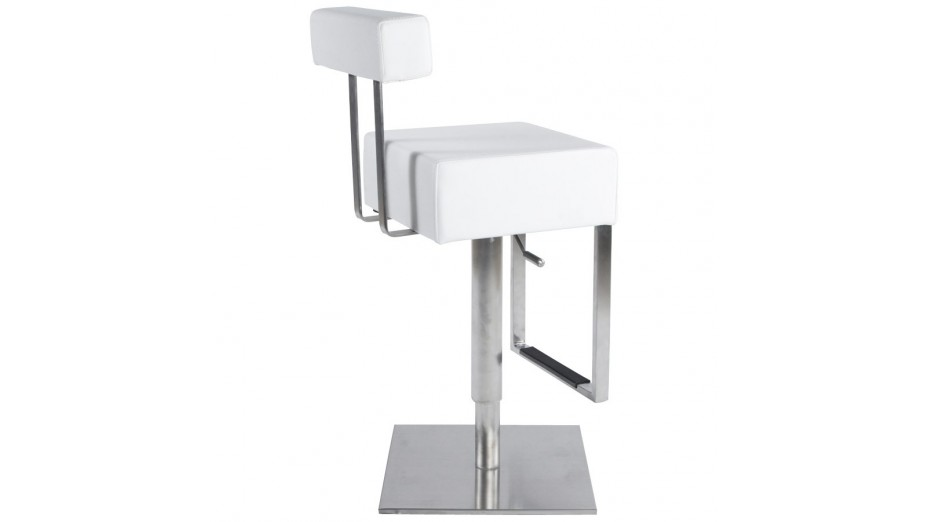 kubo tabouret de bar design blanc - Tabouret Bar Design