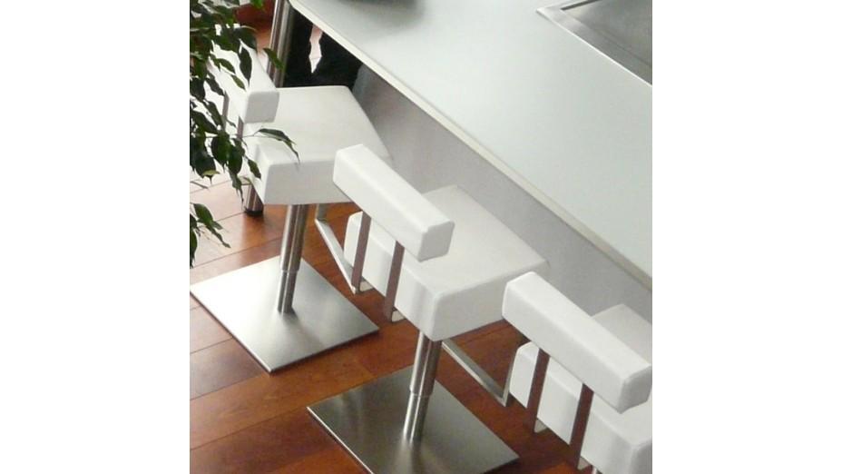 Kubo tabouret de bar design blanc