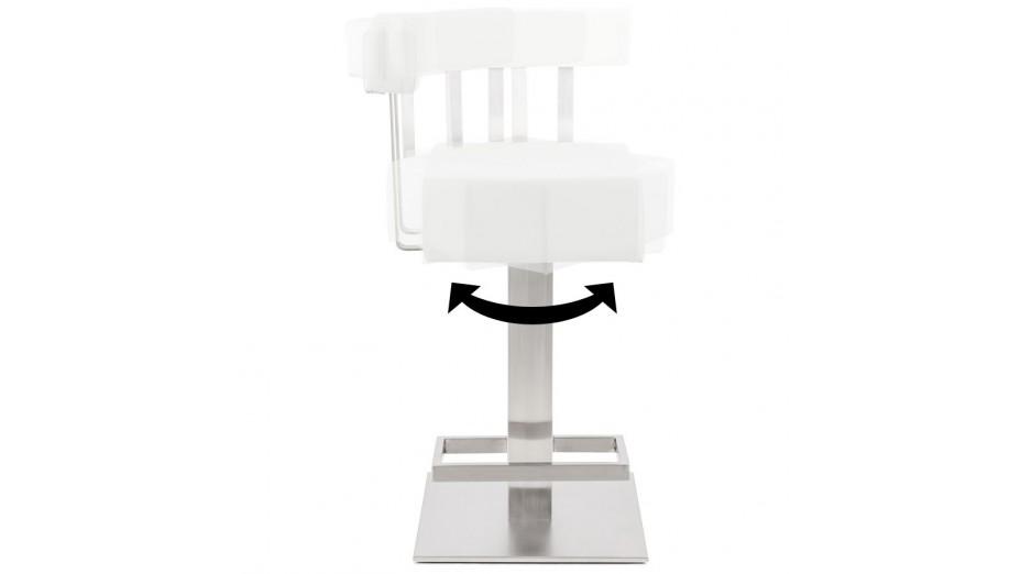 Kaiser - Tabouret Mi-hauteur similicuir blanc