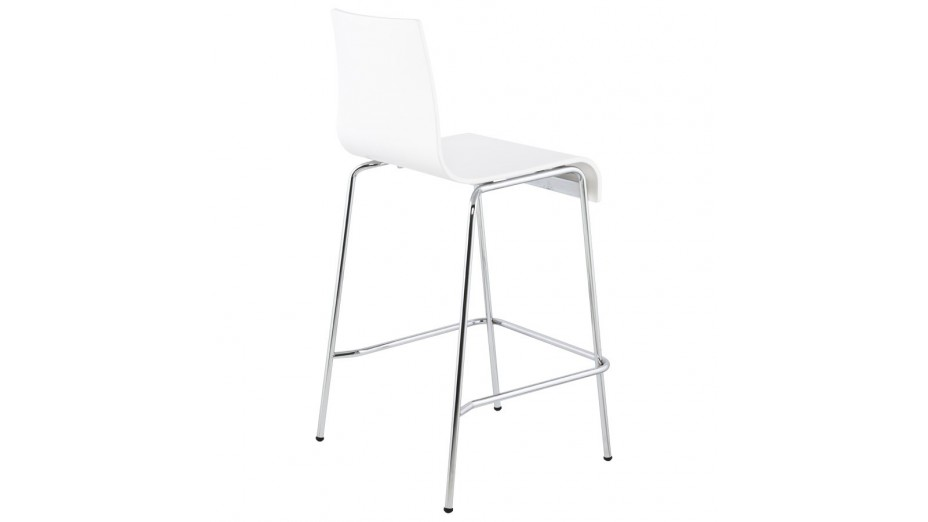 mars mini tabouret de bar mi hauteur assise bois blanc. Black Bedroom Furniture Sets. Home Design Ideas