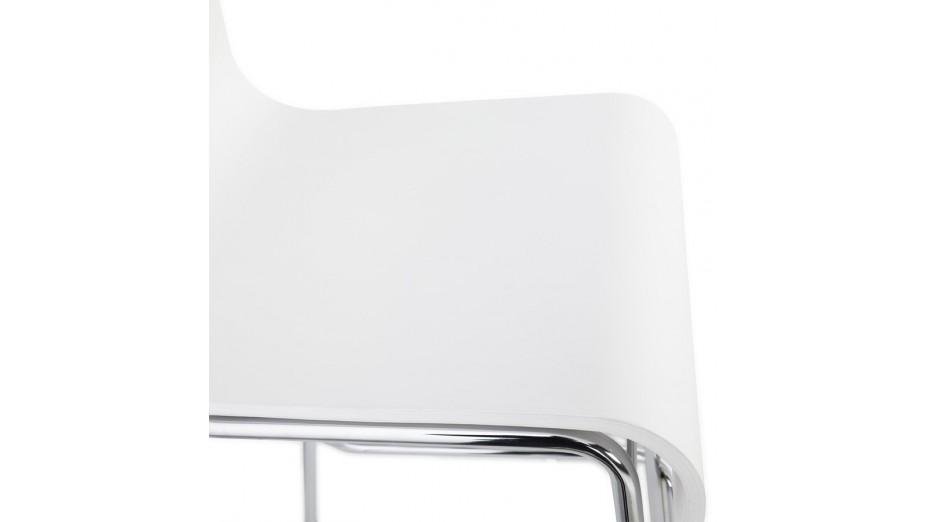 Mars Mini - Tabouret de bar assise bois blanc