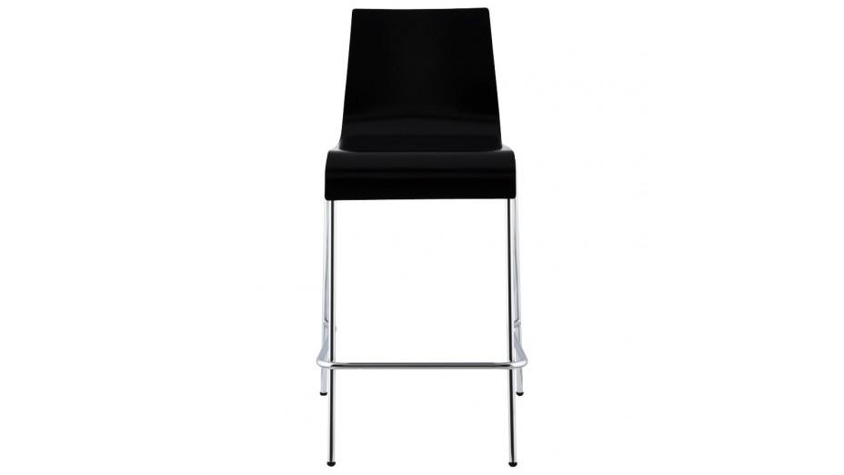 mars mini tabouret de bar mi hauteur assise bois noir. Black Bedroom Furniture Sets. Home Design Ideas