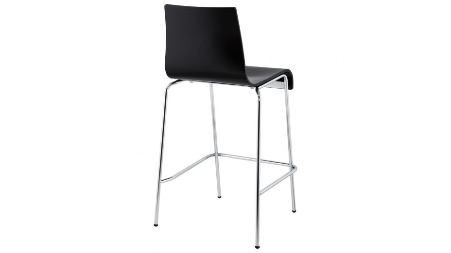 mars mini tabouret de bar mi hauteur assise bois noir. Black Bedroom Furniture Sets. Home Design Ideas