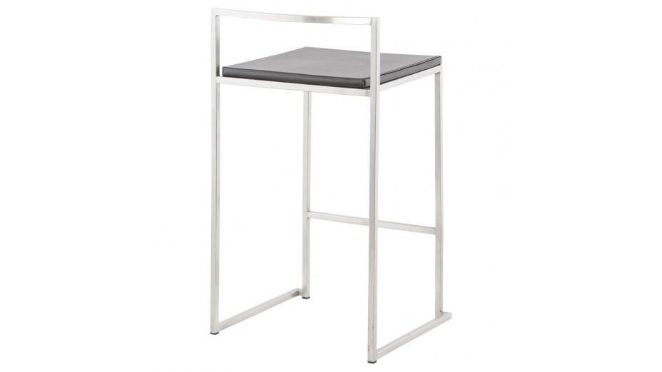 mona mini tabouret de bar mi hauteur design assise noire. Black Bedroom Furniture Sets. Home Design Ideas