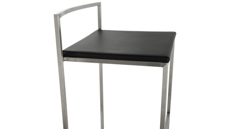 mona mini tabouret de bar mi hauteur design assise noire. Black Bedroom Furniture Sets. Home Design Ideas