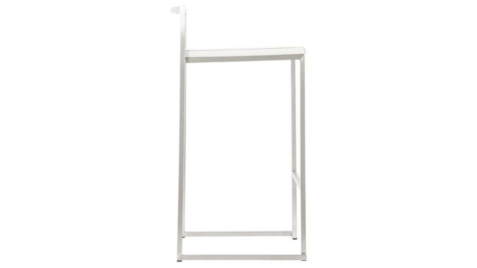 Mona Mini - Tabouret de bar Mi-hauteur design assise blanche