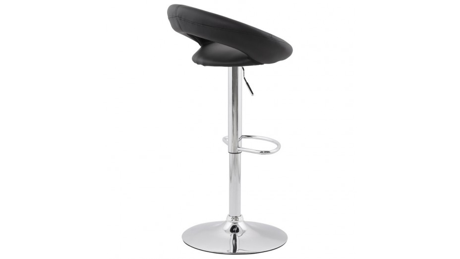 alfa tabouret de bar moderne similicuir noir. Black Bedroom Furniture Sets. Home Design Ideas