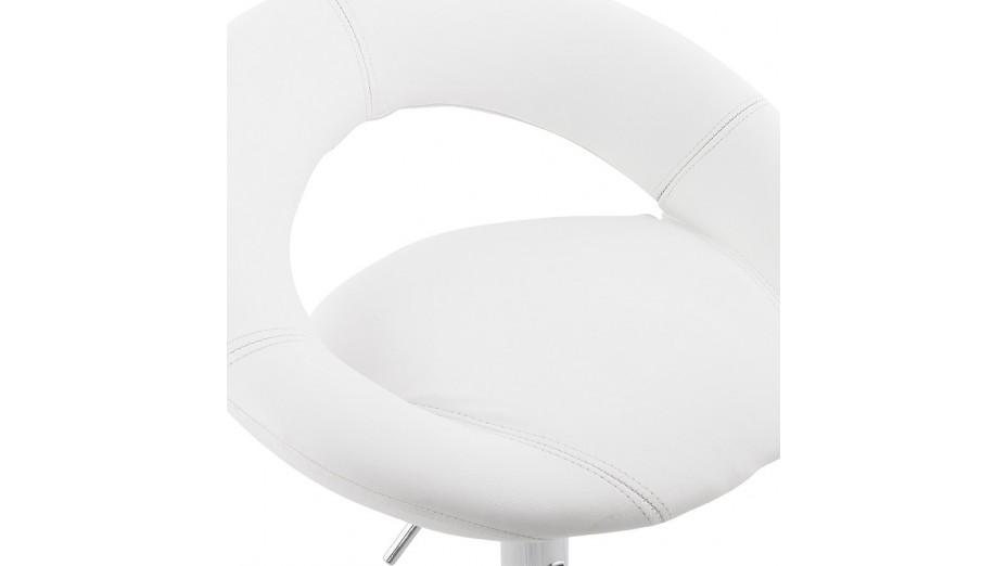 Alfa - Tabouret de bar moderne similicuir blanc