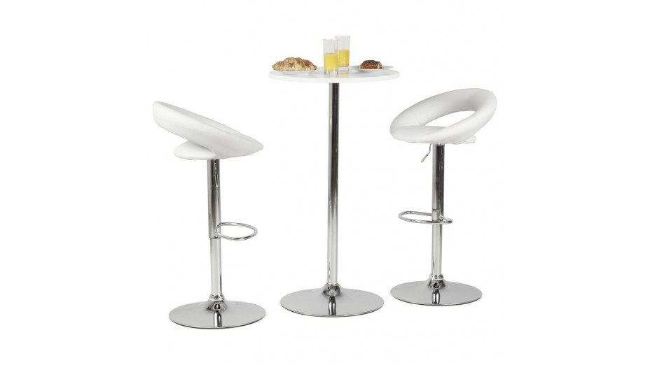 alfa tabouret de bar moderne similicuir blanc. Black Bedroom Furniture Sets. Home Design Ideas