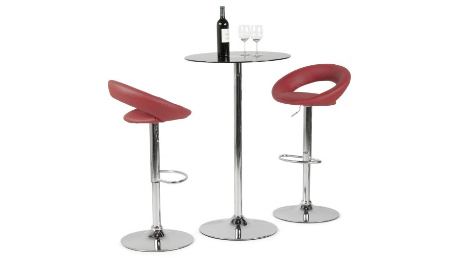 Tabouret De Bar Moderne Similicuir Rouge