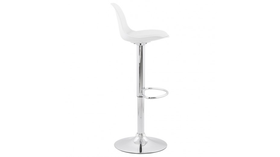 Jelly - tabouret de bar réglable assise blanche