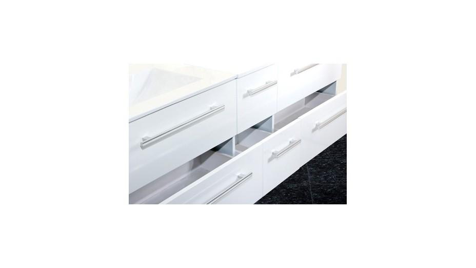 Meuble de salle de bain suspendu double vasque avec for Recherche meuble de salle de bain