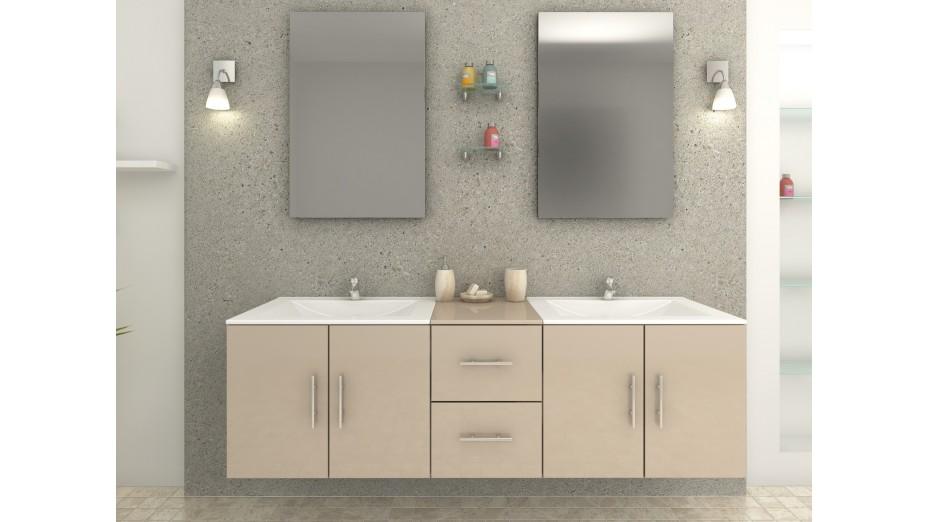 Tiana Cappuccino - Meuble de salle de bain brillant
