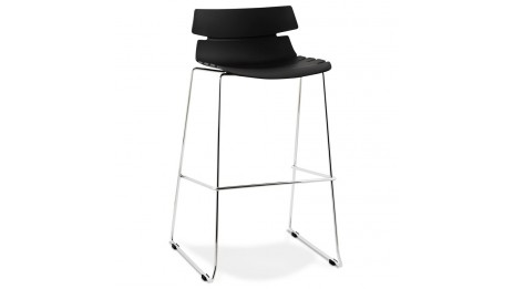 ring tabouret de bar pied bois naturel. Black Bedroom Furniture Sets. Home Design Ideas