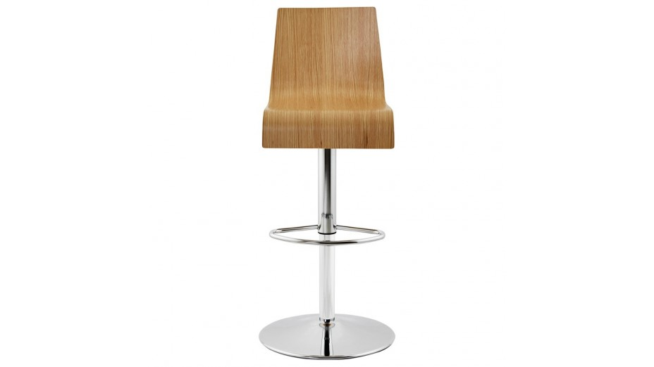 teo tabouret de bar r glable moderne assise bois naturel. Black Bedroom Furniture Sets. Home Design Ideas