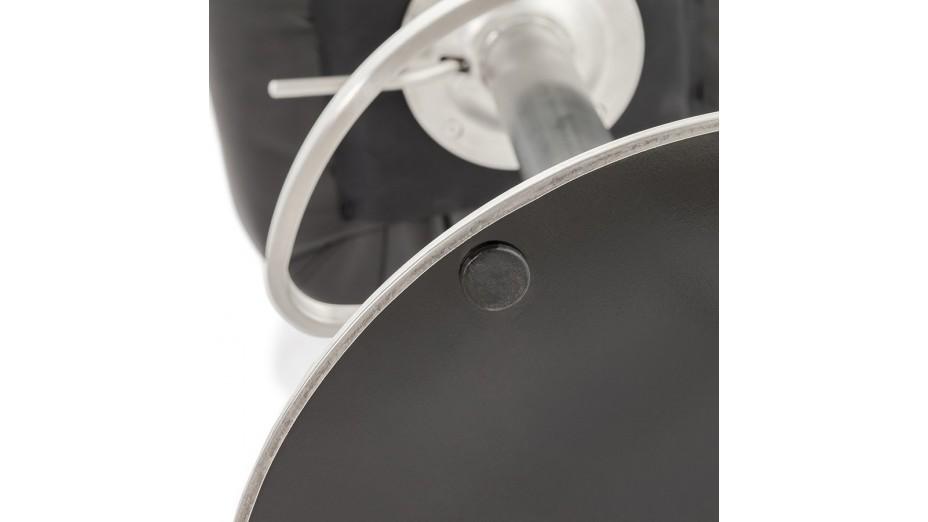 Lido - Tabouret de bar réglable similicuir noir