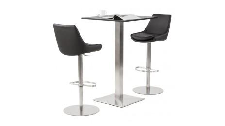 teo tabouret de bar r glable moderne assise bois noir. Black Bedroom Furniture Sets. Home Design Ideas