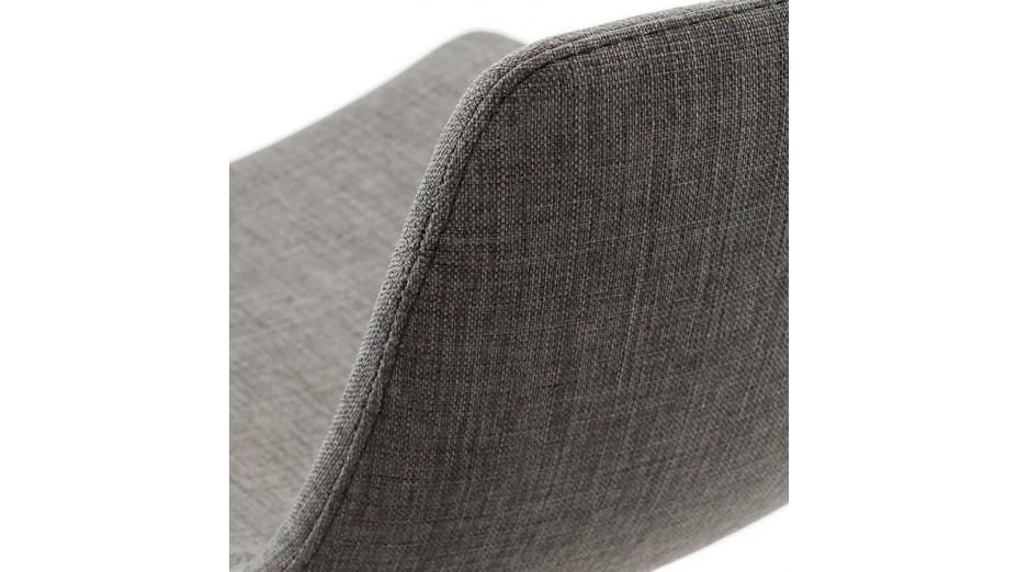 Swag - Tabouret de bar régable en tissu Gris foncé