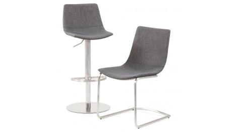 teo tabouret de bar r glable moderne assise bois naturel. Black Bedroom Furniture Sets. Home Design Ideas