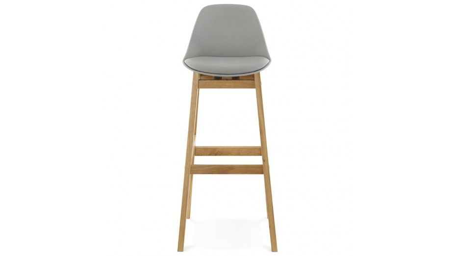 Ring Tabouret De Bar Pied Bois Naturel