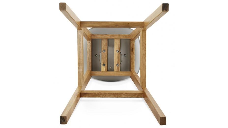 Ring Tabouret de bar pied bois naturel
