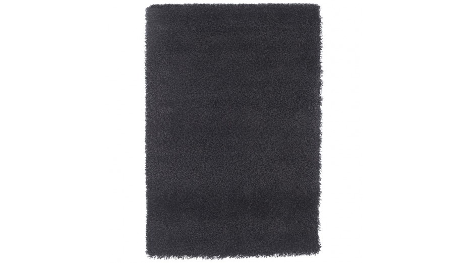 cobe pm tapis design 120 x 170 cm poils longs noir. Black Bedroom Furniture Sets. Home Design Ideas