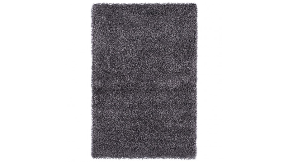 cobe tapis design 160 x 230 poils longs gris. Black Bedroom Furniture Sets. Home Design Ideas