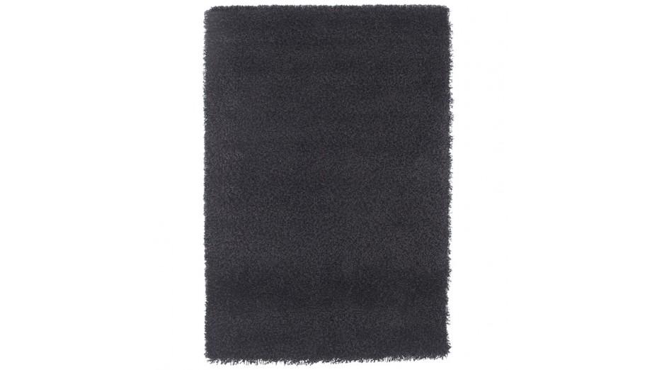 cobe tapis design 160 x 230 poils longs noir. Black Bedroom Furniture Sets. Home Design Ideas
