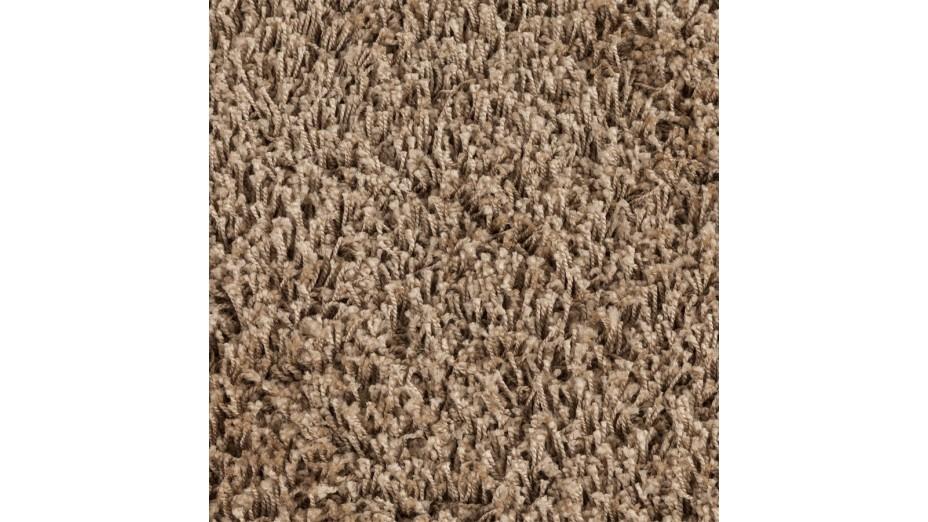 cobe rond gm tapis design rond 200 cm poils longs brun. Black Bedroom Furniture Sets. Home Design Ideas