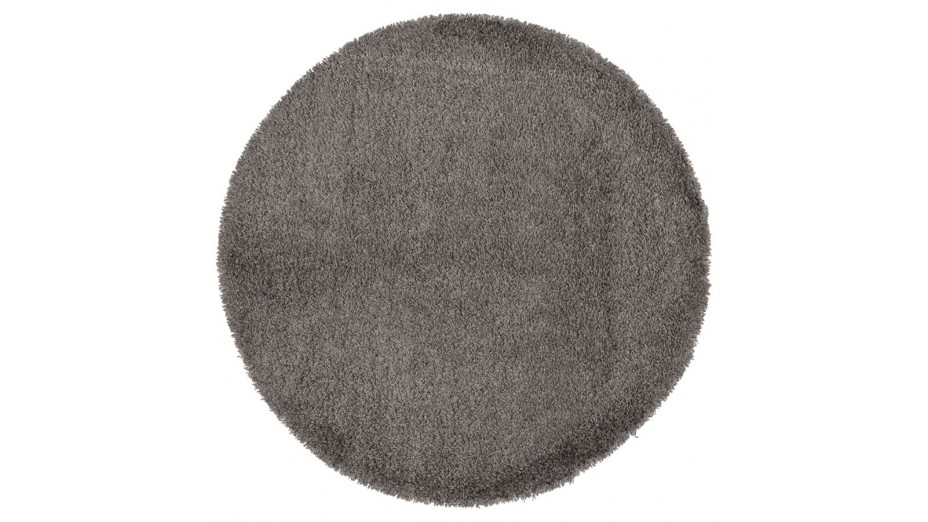 cobe rond tapis design rond 160 cm poils longs gris. Black Bedroom Furniture Sets. Home Design Ideas