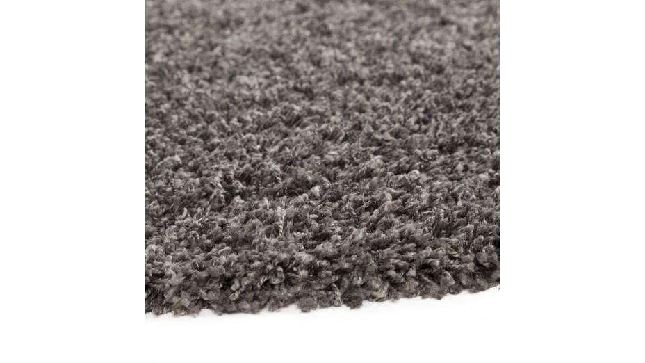 cobe rond gm tapis design rond 200 cm poils longs gris. Black Bedroom Furniture Sets. Home Design Ideas