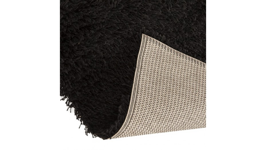 cobe tgm tapis design 330 x 240 poils longs noir. Black Bedroom Furniture Sets. Home Design Ideas