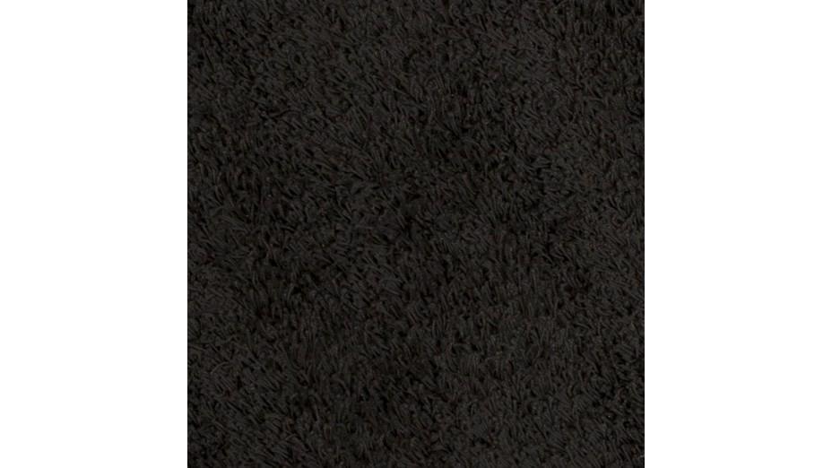 cobe rond tapis design rond 160 cm poils longs noir. Black Bedroom Furniture Sets. Home Design Ideas