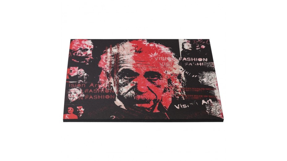 al tableau toile imprim e albert einstein 120 x 90 cm. Black Bedroom Furniture Sets. Home Design Ideas
