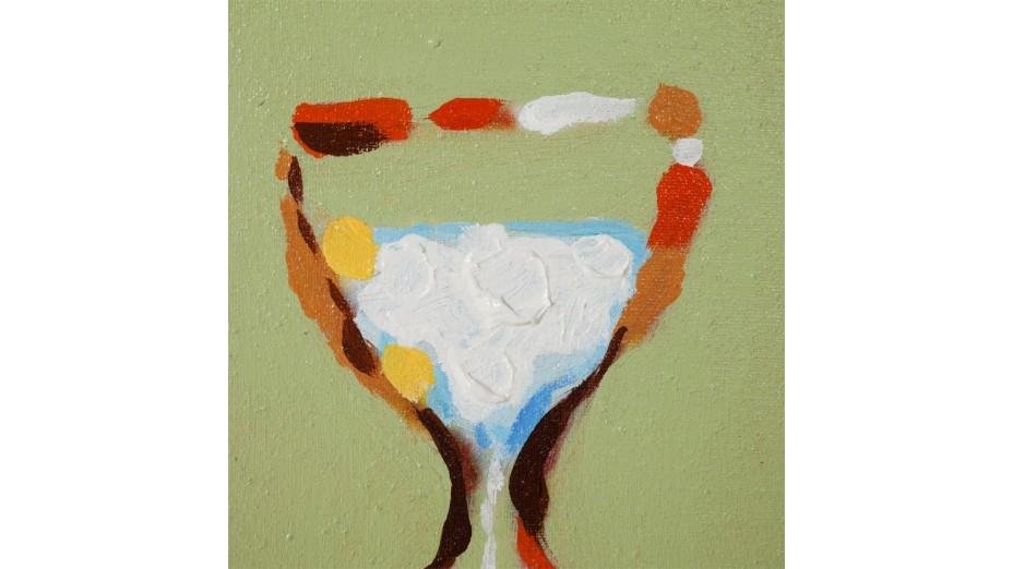 Iro - Tableau peint à la main 100 x 100 cm