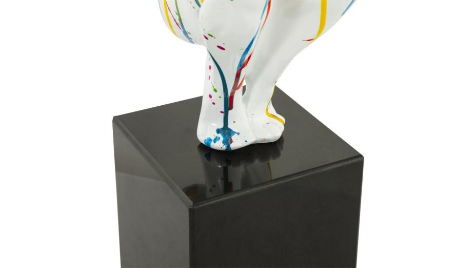 Lari - Statue athlète résine multicolore